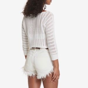 Free People Boomerang Cotton Cropped Sweater